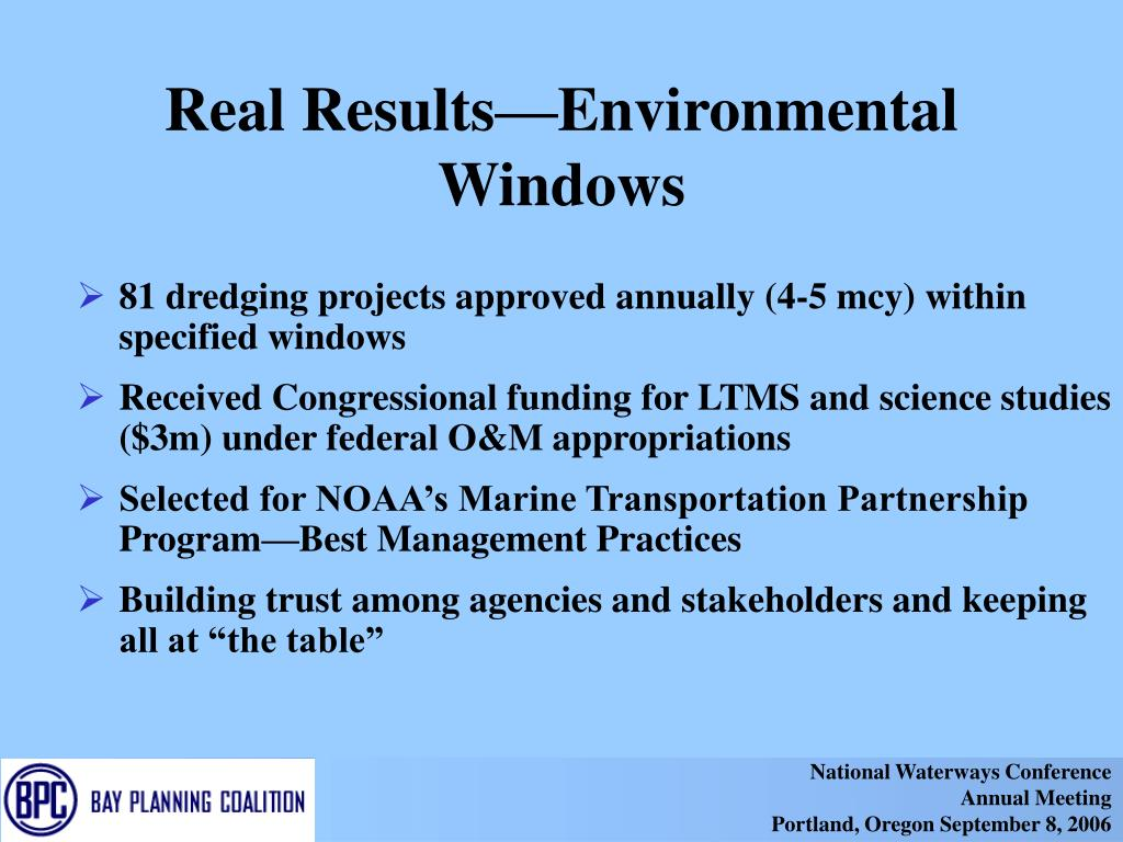 Real Results—Environmental Windows