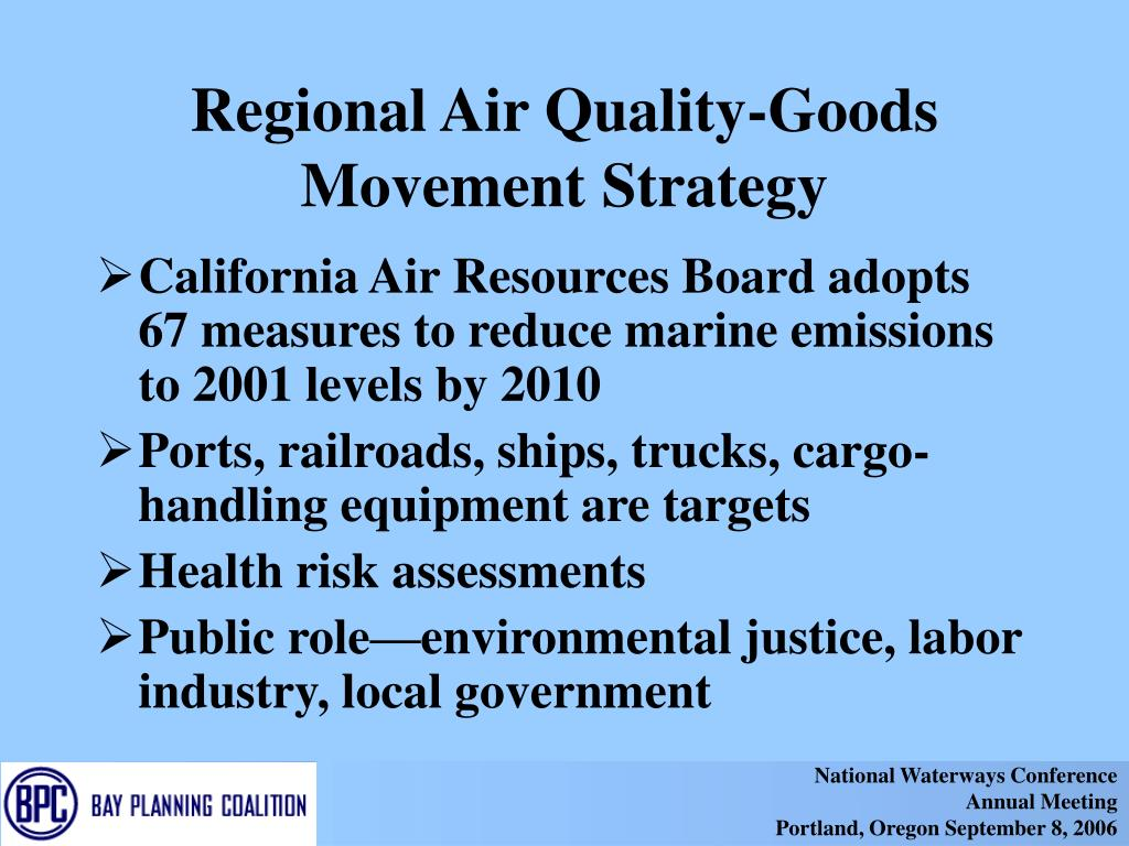 Regional Air Quality-Goods Movement Strategy