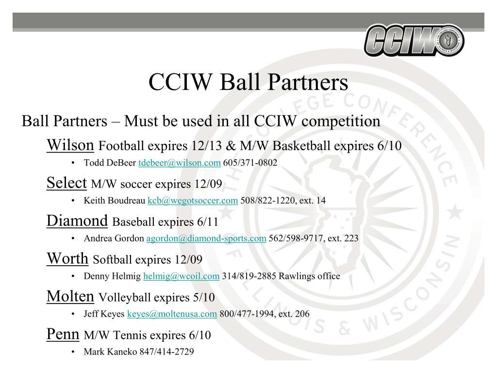CCIW Ball Partners
