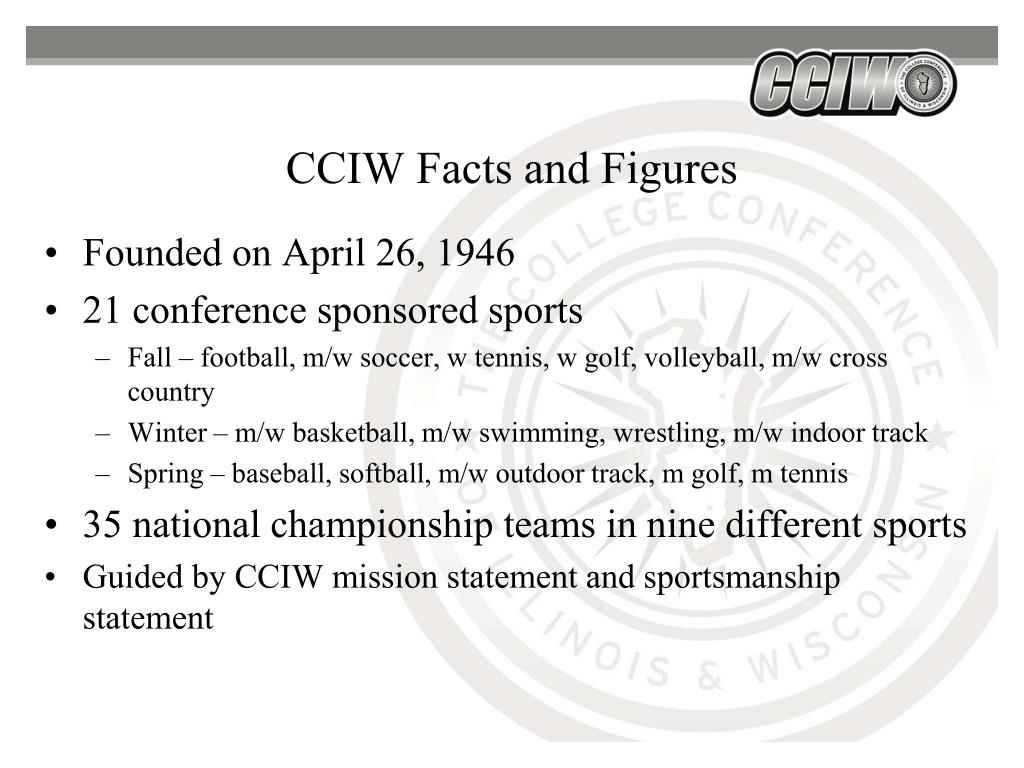 CCIW Facts and Figures