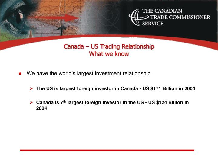 Canada us trading relationship what we know l.jpg