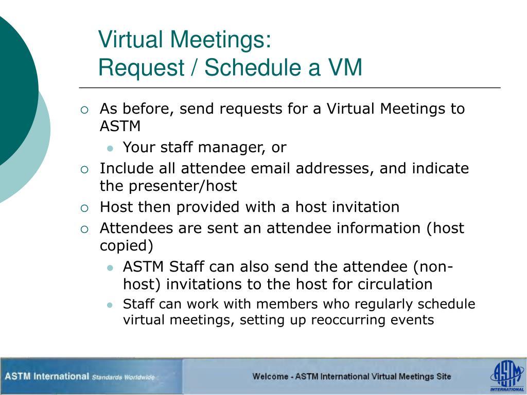 Virtual Meetings: