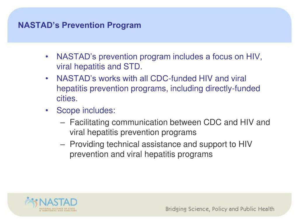 NASTAD's Prevention Program