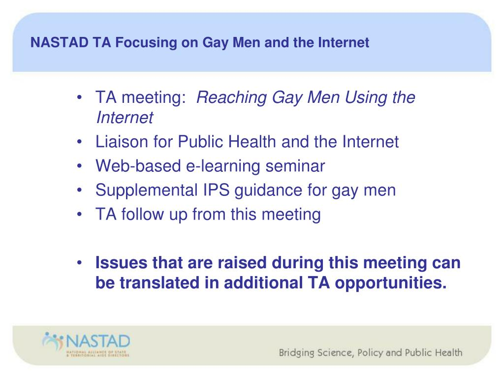 NASTAD TA Focusing on Gay Men and the Internet
