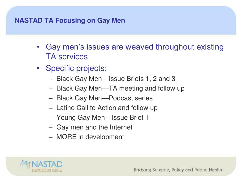 NASTAD TA Focusing on Gay Men