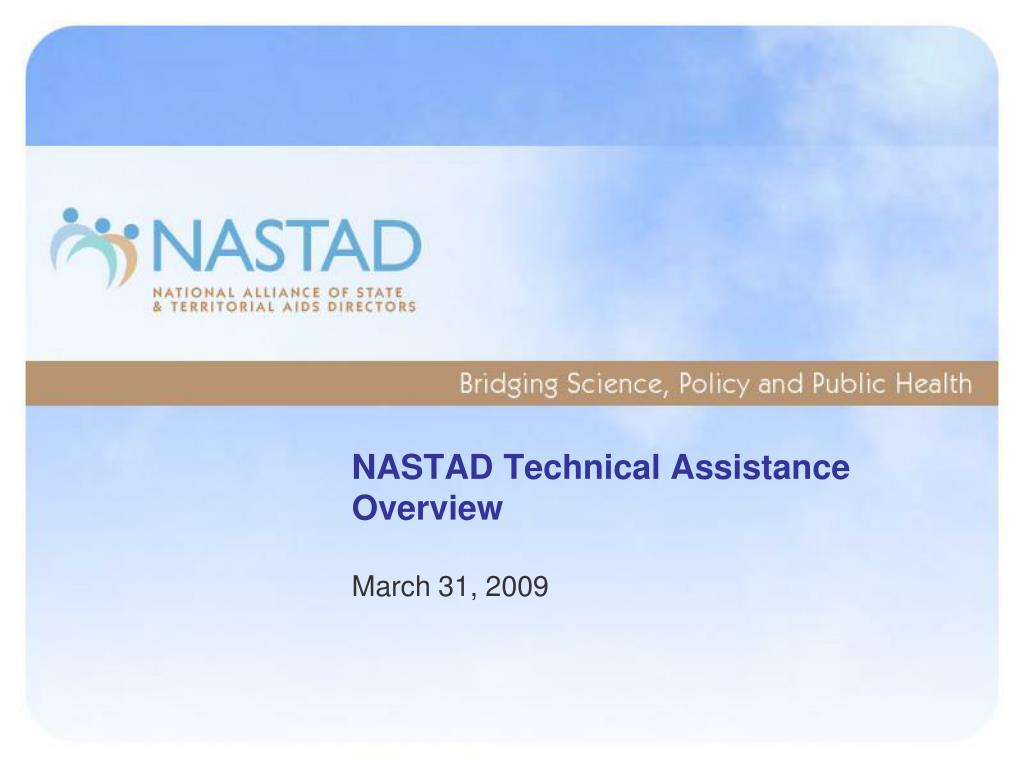 NASTAD Technical Assistance Overview