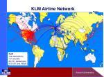 klm airline network