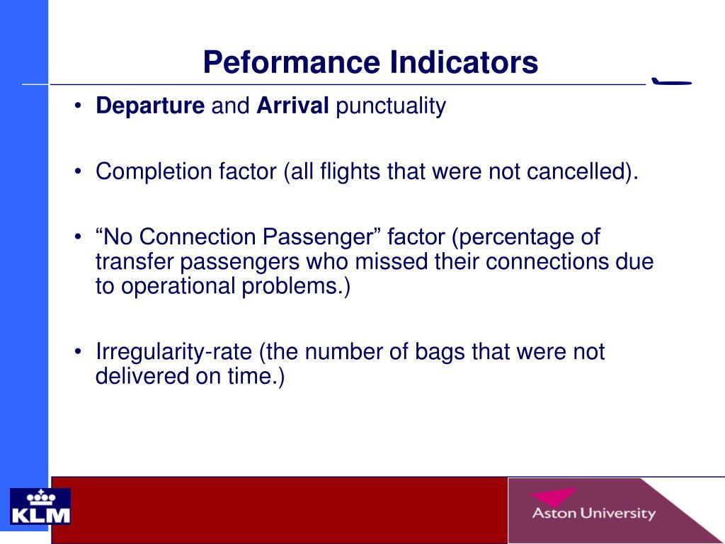 Peformance Indicators