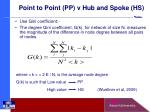 point to point pp v hub and spoke hs