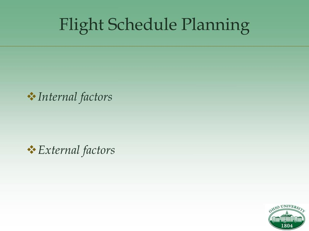 Flight Schedule Planning