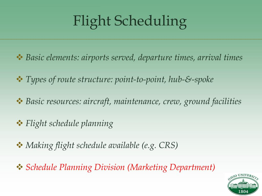 Flight Scheduling