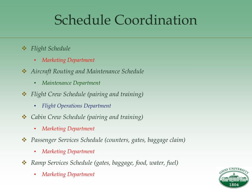 Schedule Coordination