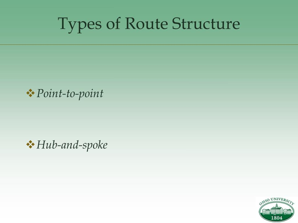 Types of Route Structure