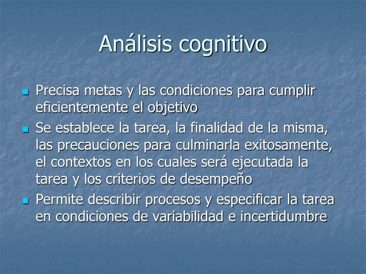 Análisis cognitivo