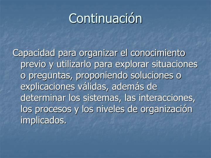 Continuación