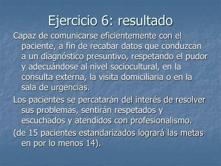 Ejercicio 6: resultado