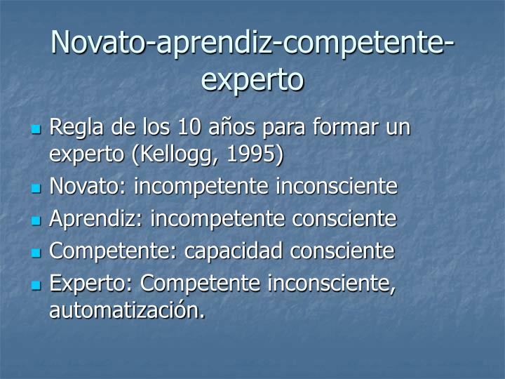 Novato-aprendiz-competente-experto