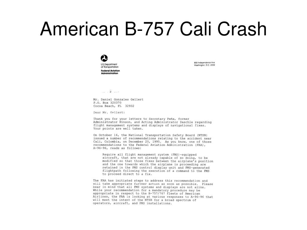 American B-757 Cali Crash