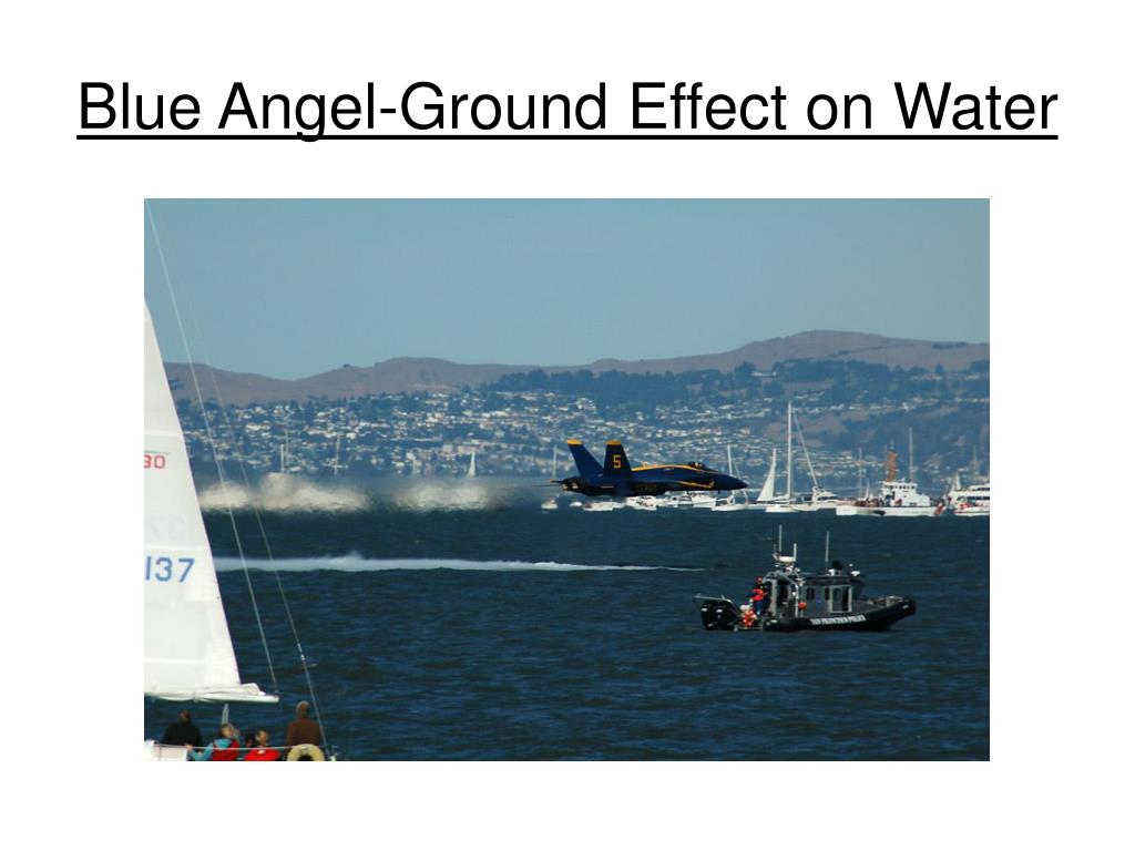 Blue Angel-Ground Effect on Water