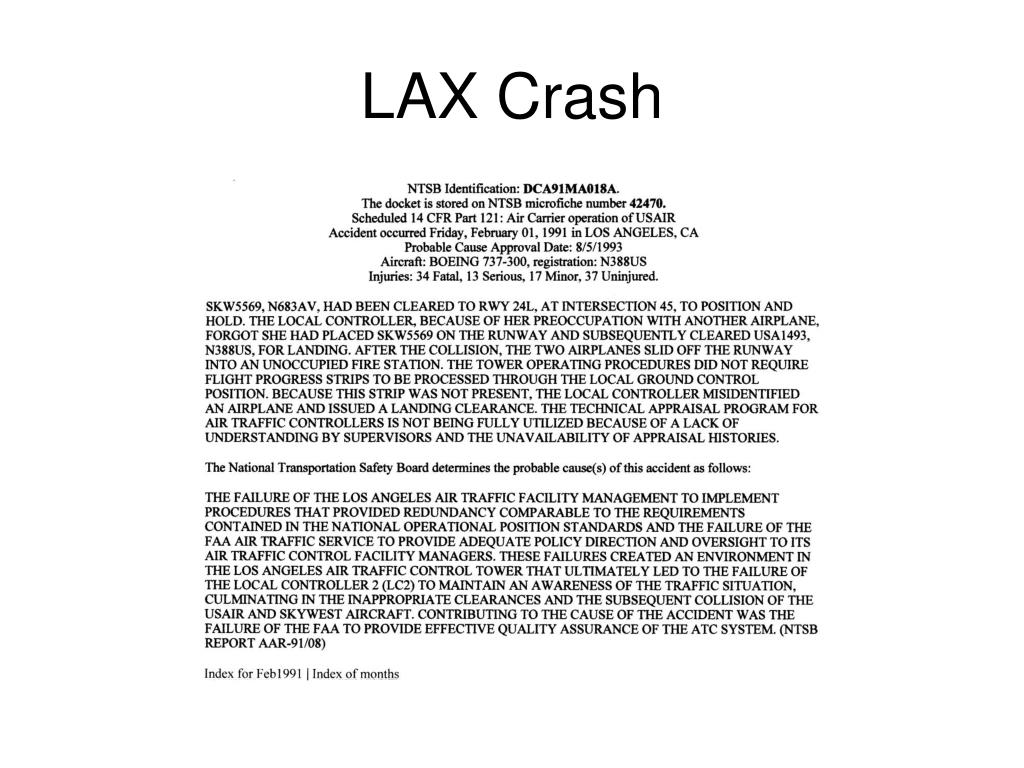 LAX Crash