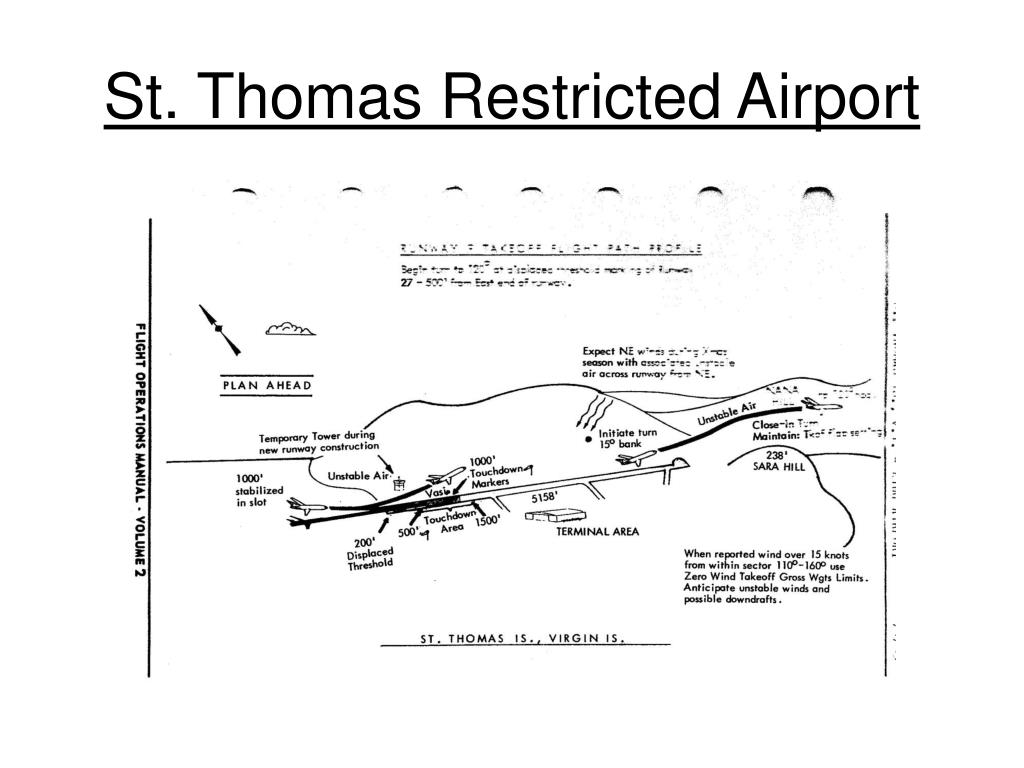 St. Thomas Restricted Airport