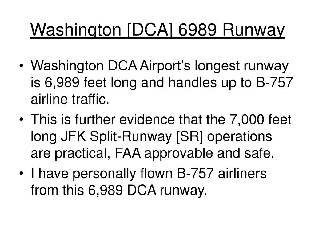 Washington [DCA] 6989 Runway