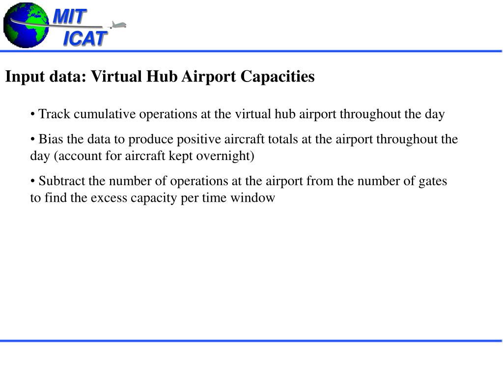 Input data: Virtual Hub Airport Capacities