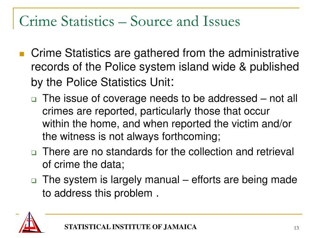 Crime Statistics – Source and Issues