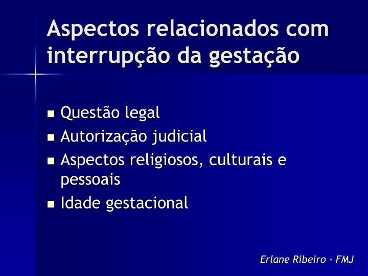 Aspectos relacionados com interrupção da gestação