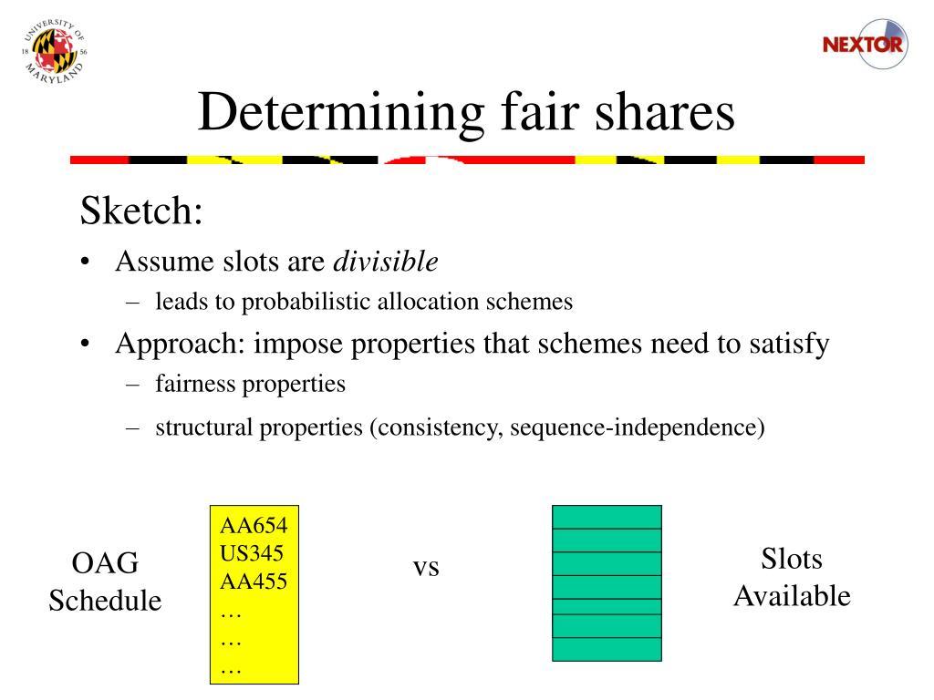 Determining fair shares
