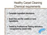 healthy carpet cleaning chemical requirements