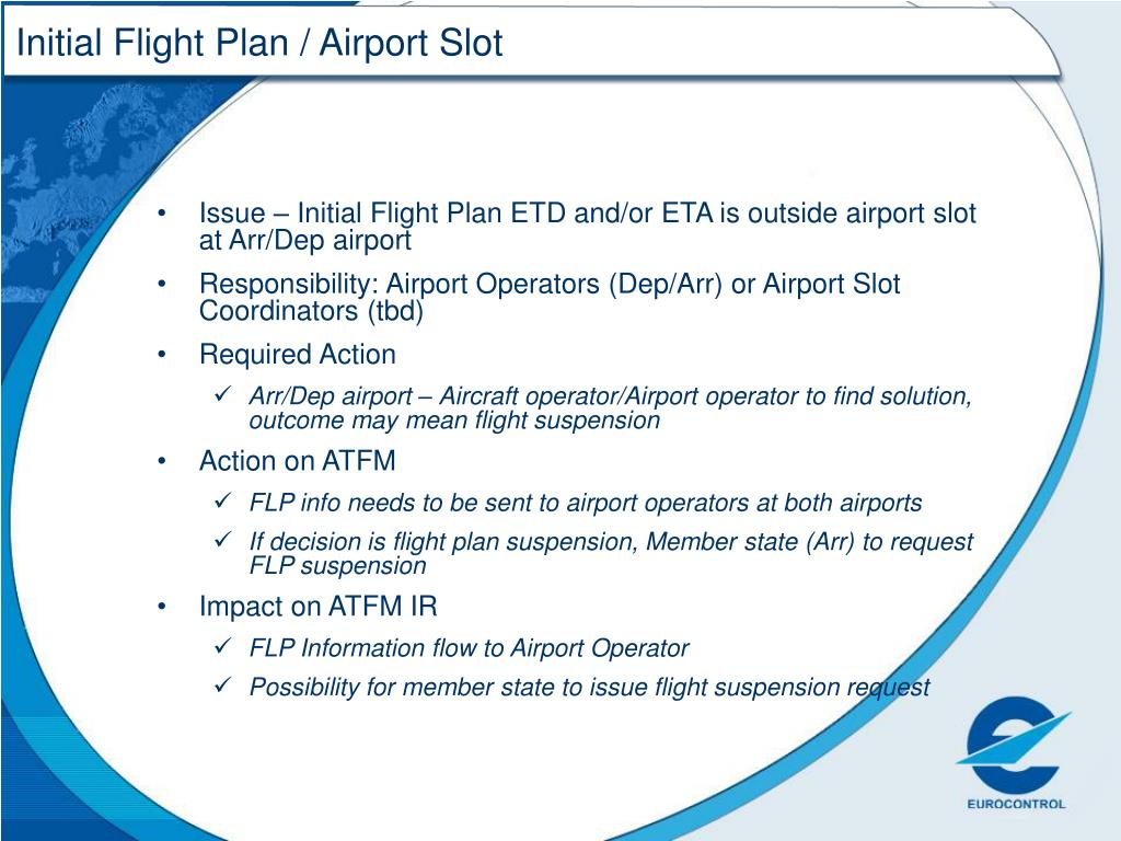 Initial Flight Plan / Airport Slot