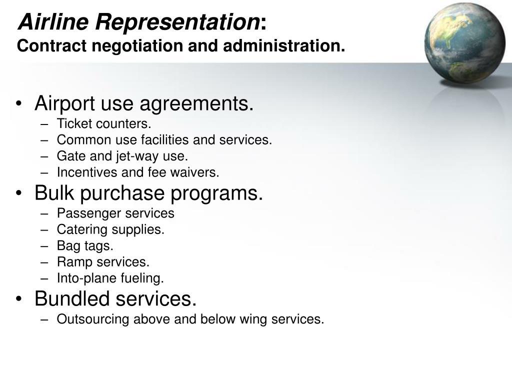 Airline Representation