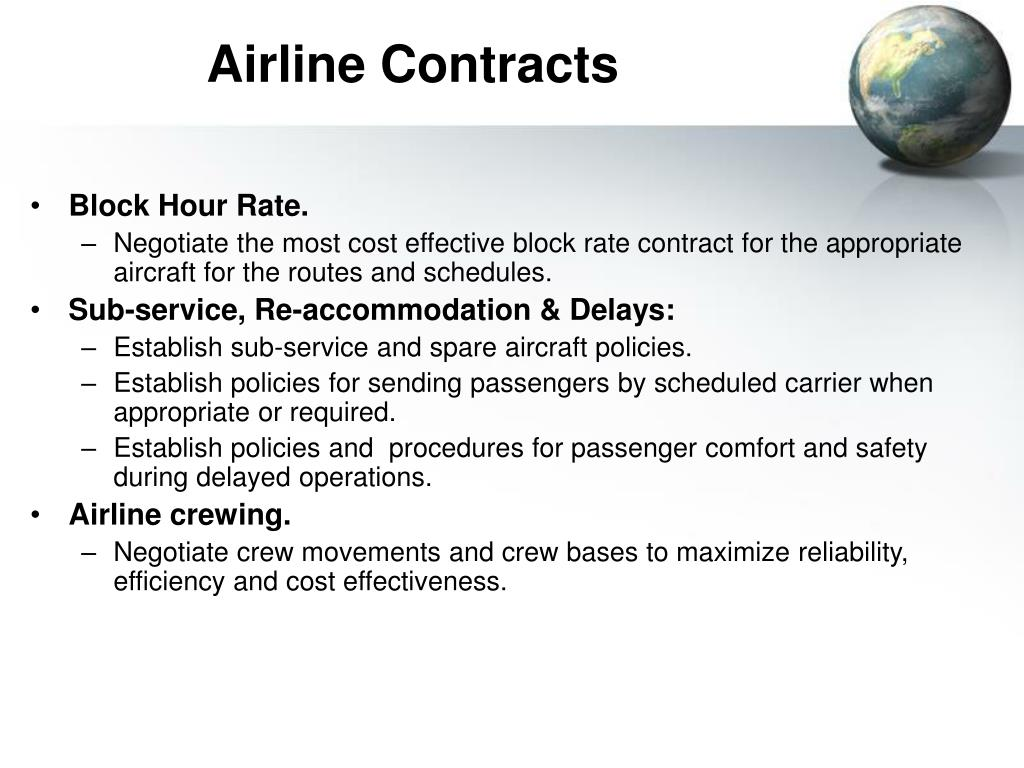 Airline Contracts