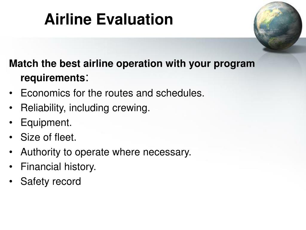 Airline Evaluation