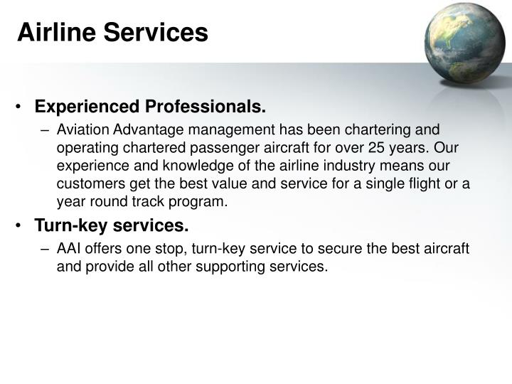Airline services