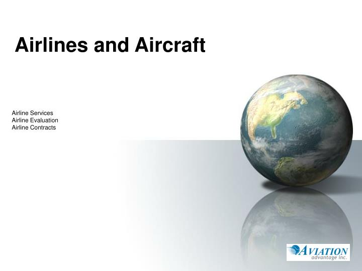 Airlines and aircraft