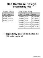 bad database design dependency loss