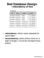 bad database design redundancy of fact