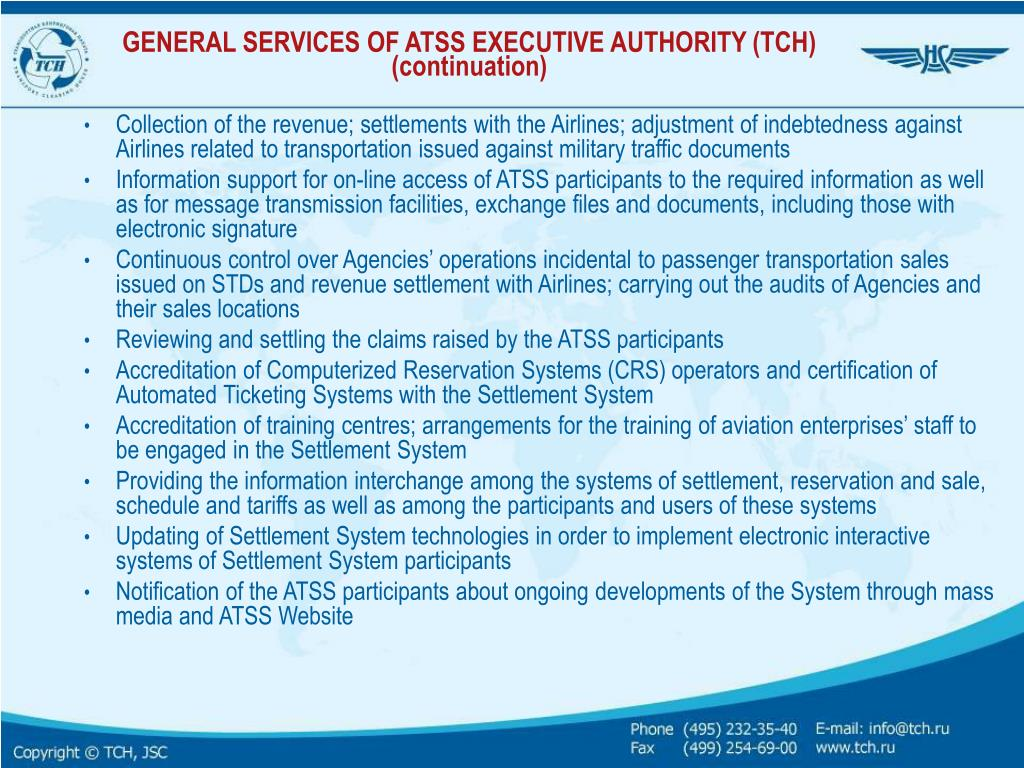 GENERAL SERVICES OF ATSS