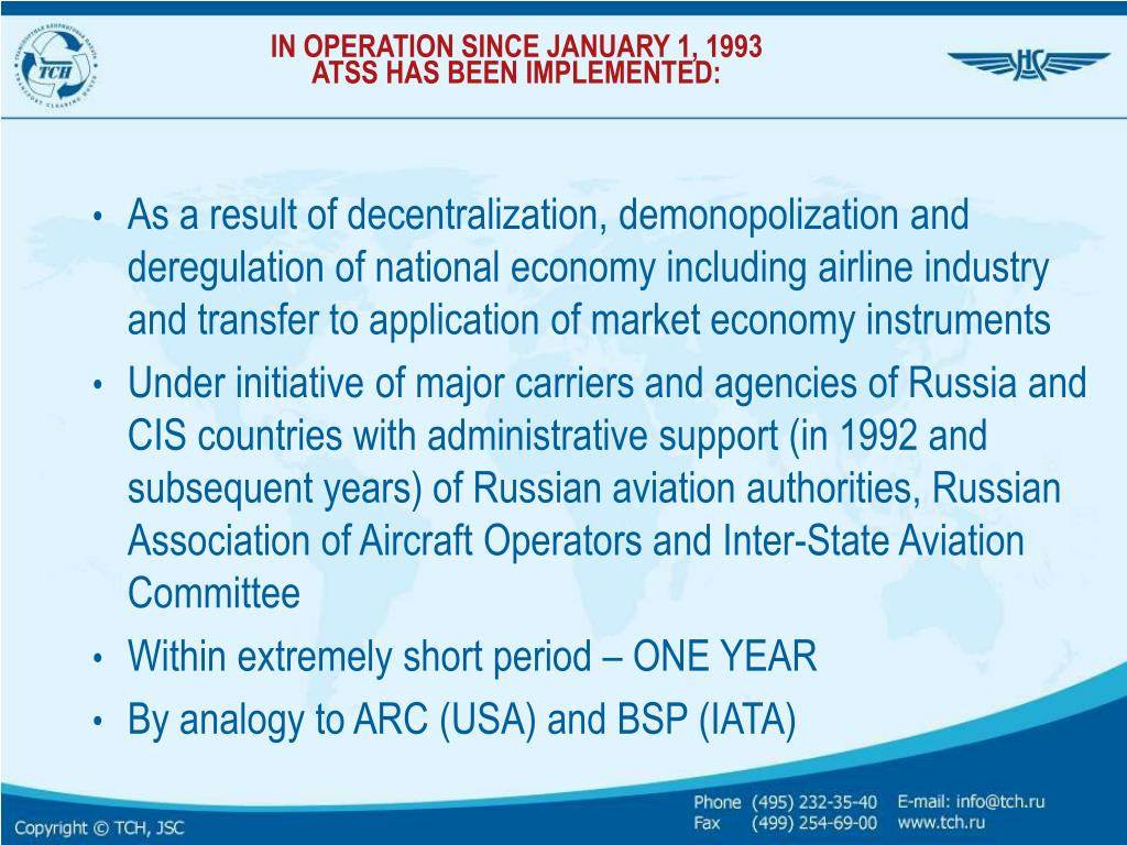 IN OPERATION SINCE JANUARY 1, 1993