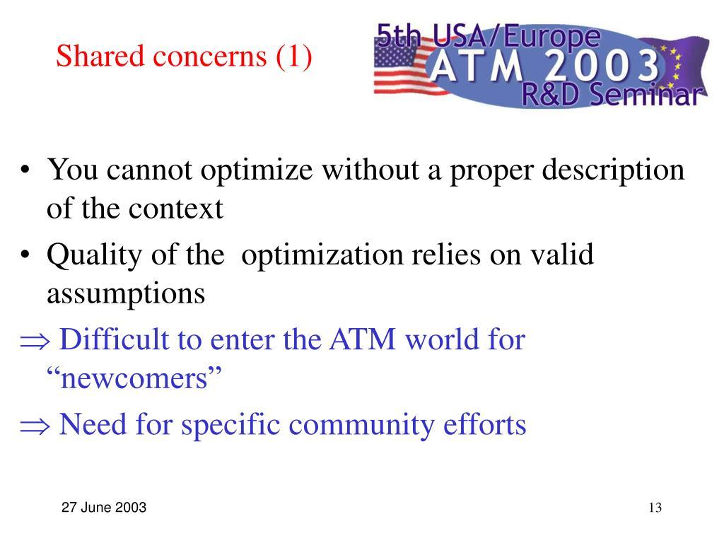 Shared concerns (1)
