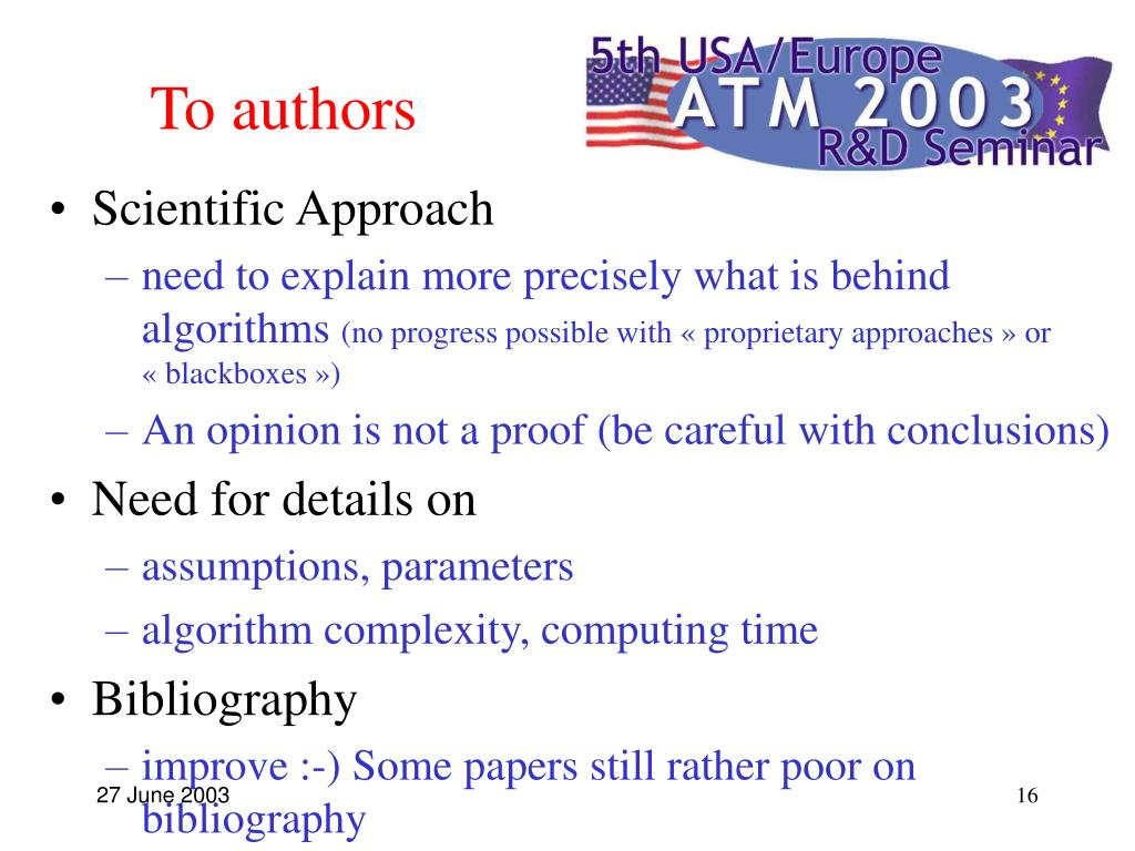 To authors