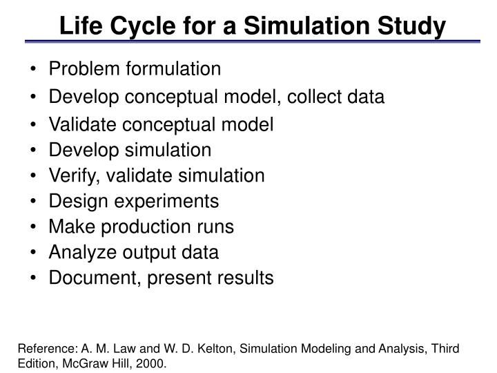 Life cycle for a simulation study l.jpg