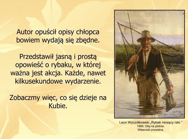 Leon Wyczkowski Rybak nioscy raki.