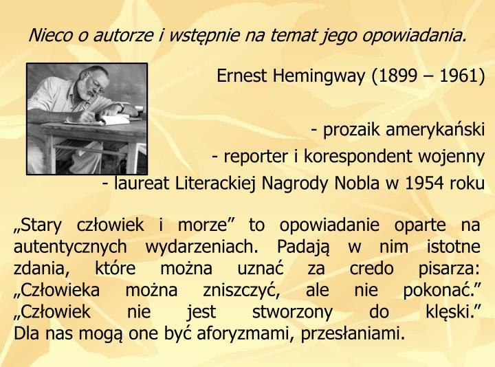 Ernest Hemingway (1899  1961)