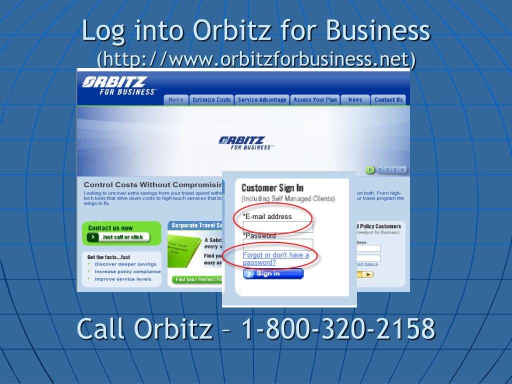 Log into Orbitz for Business