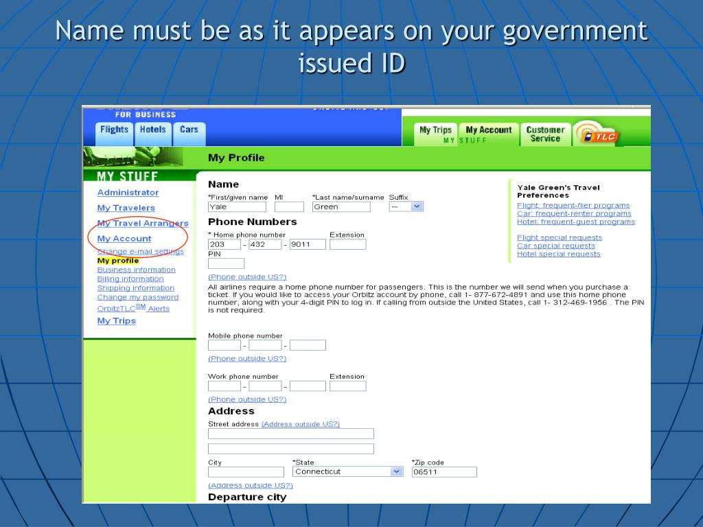 Name must be as it appears on your government issued ID