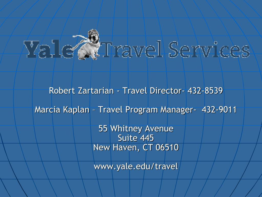 Robert Zartarian - Travel Director- 432-8539