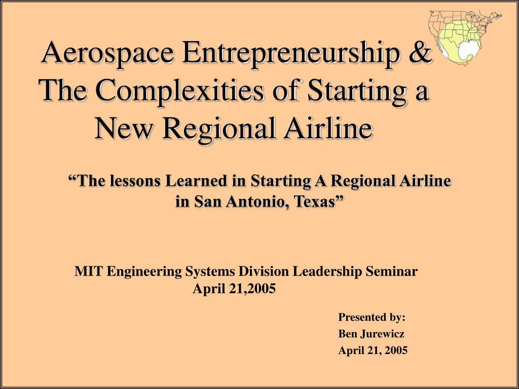Aerospace Entrepreneurship &
